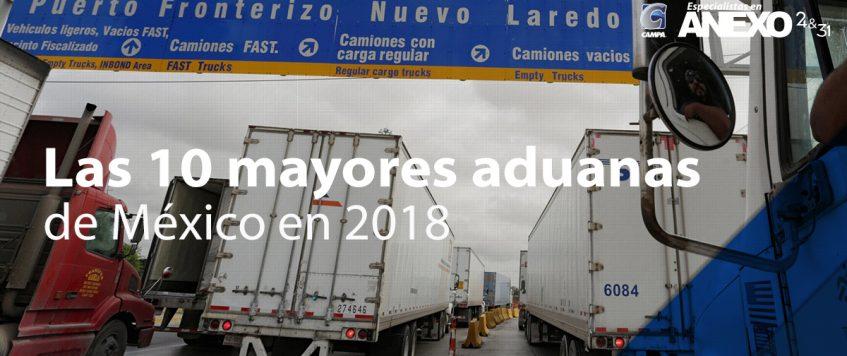 Las 10 mayores aduanas de México en 2018