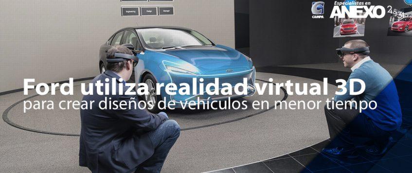 Ford utiliza realidad virtual 3D para crear diseños de vehículos en menor tiempo