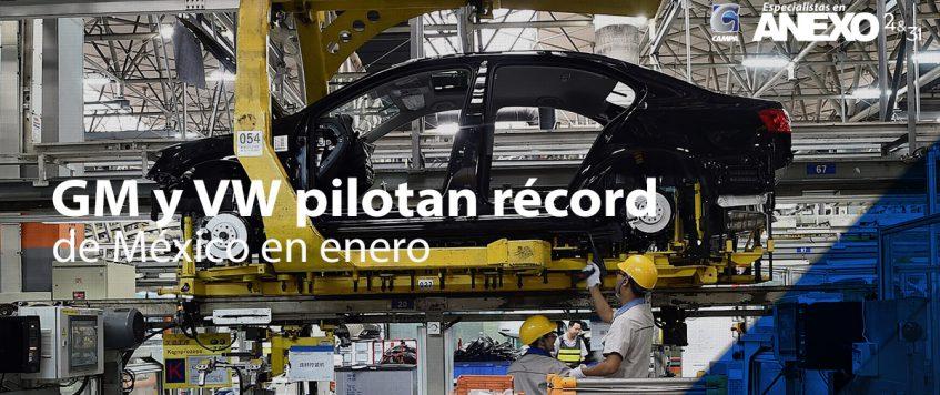 GM y VW pilotan récord automotor de México en enero