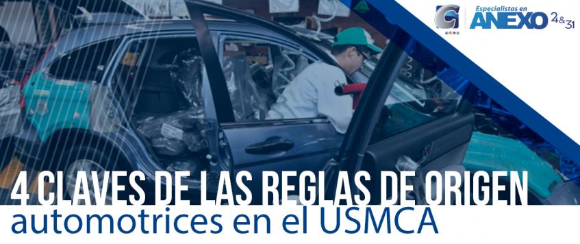 4 claves de las reglas de origen automotrices en el USMCA