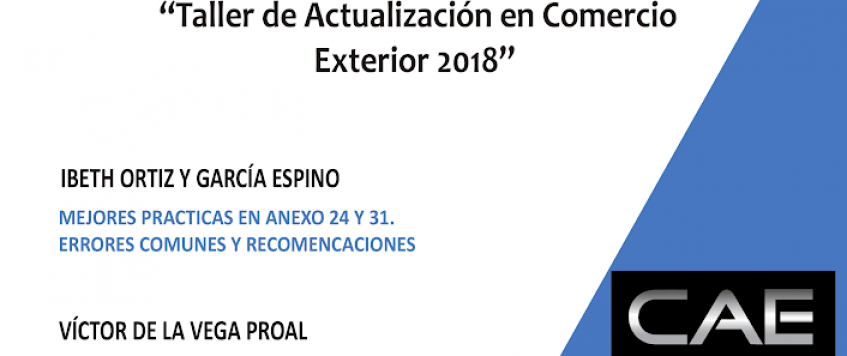 Taller de Actualización en Comercio Exterior 2018