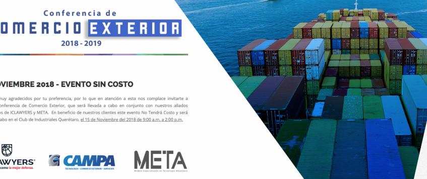 Conferencia de Comercio Exterior 2018 – 2019 – CAMPA