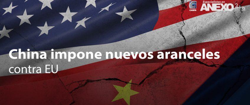 China impone nuevos aranceles contra EU por un valor de 75,000 millones de dólares
