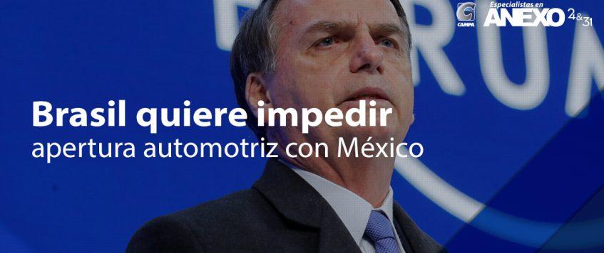 Brasil quiere impedir apertura automotriz con México