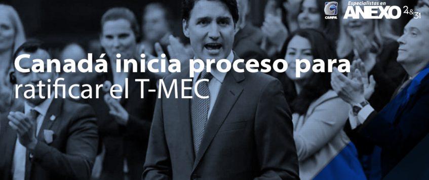 Trudeau presenta T-MEC ante el Parlamento; pide ratificarlo