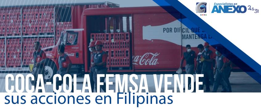 Coca-Cola FEMSA vende sus acciones en Filipinas