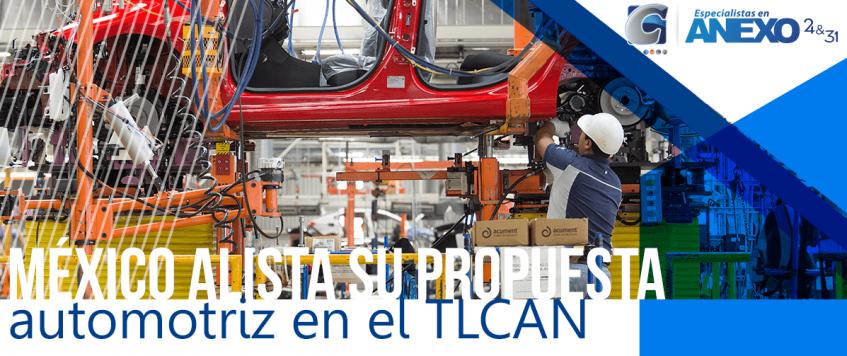 México alista su propuesta automotriz en el TLCAN