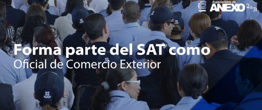 Forma parte del SAT como Oficial de Comercio Exterior
