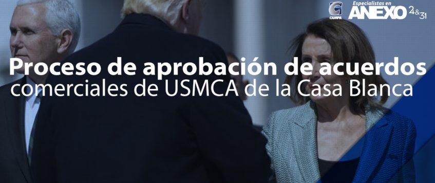Proceso de aprobación de acuerdos comerciales de USMCA de la Casa Blanca