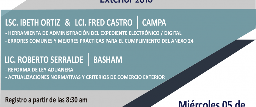 Conferencia: Taller de Actualización en Comercio Exterior 2018