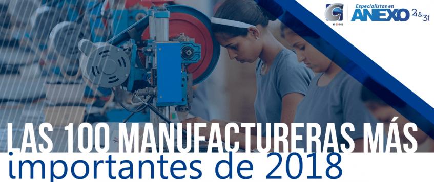 Las 100 manufactureras más importantes de 2018