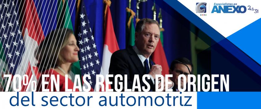 México plantea 70% en las reglas de origen del sector automotriz para exportar automóviles sin pagar aranceles
